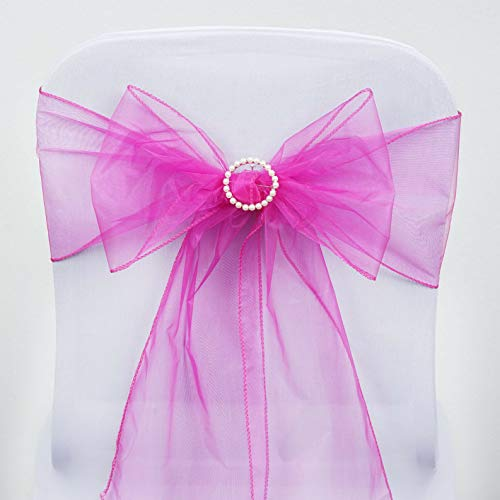 Mikash Organza Chair Sashes Bows Ties Wedding Reception Decorations Dinner Wholesale | Model WDDNGDCRTN - 3872 | 200 pcs