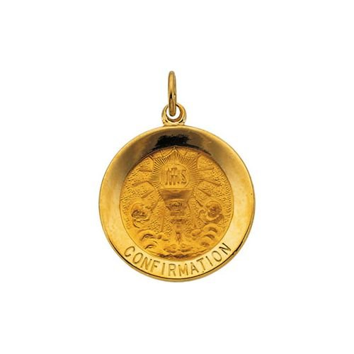 R16368 14K Yellow 18.25 Mm Polished Confirmation Medal