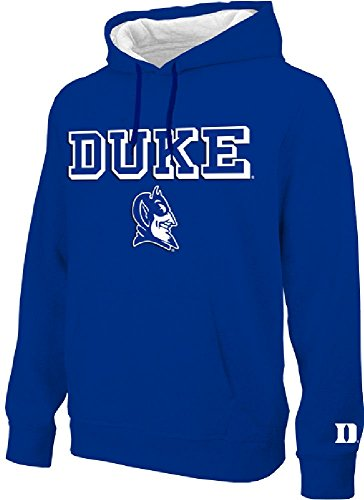 E5 NCAA Duke Blue Devils Royal Embroidered College Classic Hoodie Sweatshirt ()