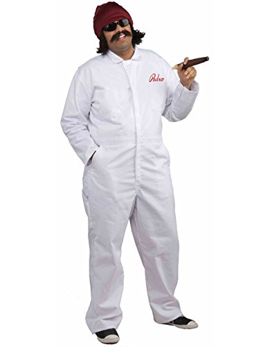 Men's Cheech Movers Jumpsuit Costume, White, One Size -