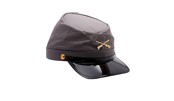MyPartyShirt Gorra de soldado confederado del ejército de la Guerra Civil   Amazon.es  Juguetes y juegos 01d65775b4a