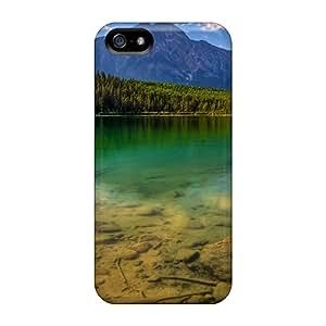 New Calm Lake Tpu Case Cover, Anti-scratch MeSusges Phone Case For Iphone 5/5s