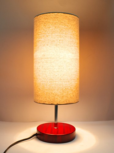 17''H Mini Living Room Indoor Table Lamp Red Base by Solar Smart Creations