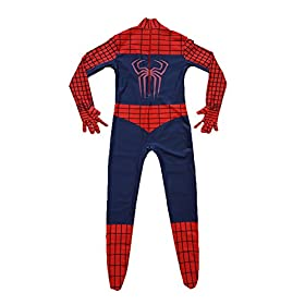 - 41J6ZbVy7HL - Kids Spiderman Costume Child Superhero Cosplay Elastic Jumpsuit Amazing Spandex Zentai Suit Halloween Boys Costumes