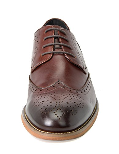 Bruno Marc Men's WALTZ-3 Dark Brown Italian Genuine Leather Collection Dress Oxfords Shoes – 10 M US