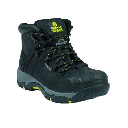 Amblers Safety, Zapatos De Seguridad Negros Para Hombres