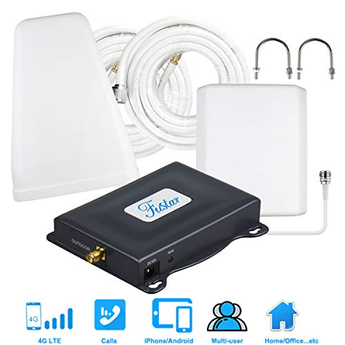 AT&T Cell Phone Signal Booster, AT&T Cricket Signal Booster 4G LTE U.S. Cellular 700mhz Band 12/17, AT&T Cell Booster Network Extender for Home Office 65dB 5000 sq.ft,Strong Reception Antenna LPDA (Best Network Booster For Android)