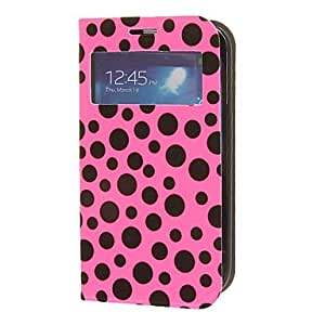 PEACH-Twinkling Matte Skin Rose Face PU Leather and PC Back Cover Full Body Case for Samsung Galaxy S4 I9500