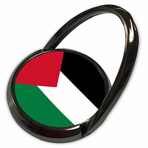 3dRose InspirationzStore Flags - Flag of Palestine - Palestinian Black red White Green Stripes Triangle Arab World Country West Bank - Phone Ring (phr_158407_1)
