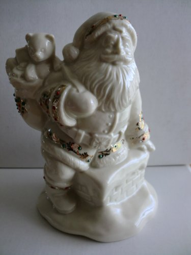 ollection SANTAS VISIT Figure 4th in Series (Lenox Antiquity Accent)
