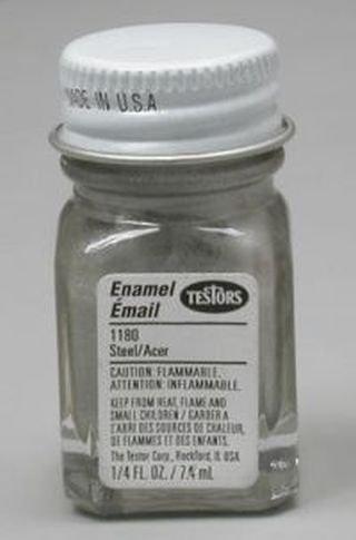 Testors 1180TT .25 oz Steel Flat Enamel Bottle, Multicolor from Testors