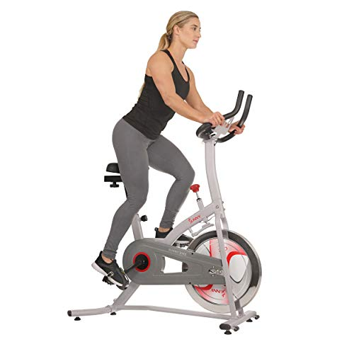 Sunny Health & Fitness Indoor Cycling Stationary Exercise Bike with Magnetic Resistance, Integrated Device/Ipad Holder, Performance Monitor and Quiet Belt Drive - SF-B1918 Sunny Health & Fitness