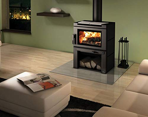 Osburn OB02020 Matrix Wood Stove with Blower and Black Panels