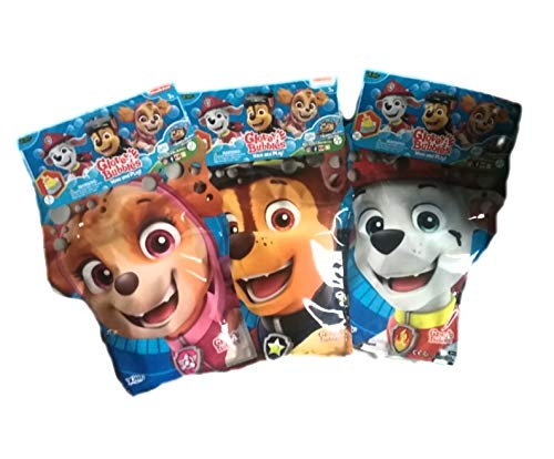 Zing Global Paw Patrol Glove-A-Bubbles Marshall, Chase and Skye (3 Pack) Bundle