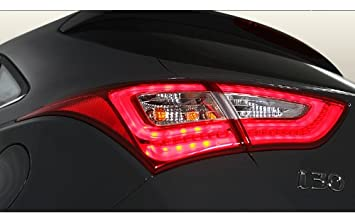 Hyundai Motors Genuine Rear LED Tail Lights Lamp Assembly 4-pc Set For 2012 2013
