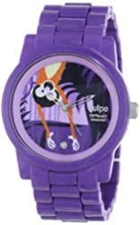 Sprout Women's SC/5001PRPR Diamond Accented On the Sly Monkey Dial Purple Corn Resin Bracelet Watch