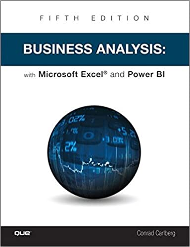 Buy Business Analysis With Microsoft Excel And Power Bi Book Online