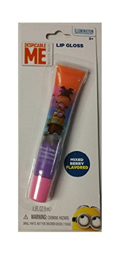 Despicable Me Minion Rainbow Colored Mixed Berry Flavored Lip Gloss