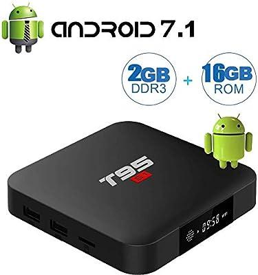 Android TV Boxes actualización versión T95 S1 Android 7.1 caja con ...