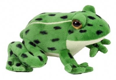 Wild Republic Northern Leopard Frog Watch Childrens Plush Cuddly Soft Toy Animal ()
