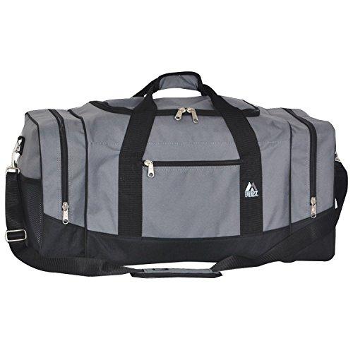 Everest Sporty Travel Duffel Bag, Dark Gray