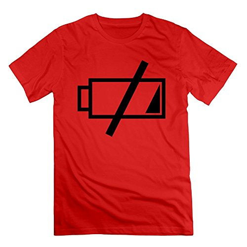 Wangtingting Men's Battery Low Power Warning Icon T-Shirt