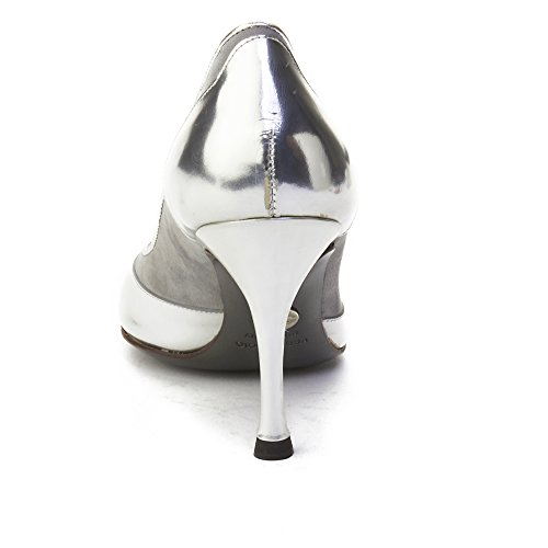 Women's Leather amp; Toe Gabbana Dolce Peep Silver Pump wXBExCpx