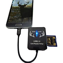 BoneView Trail Camera Viewer SD Card Reader for Android Phones, Micro USB Connector