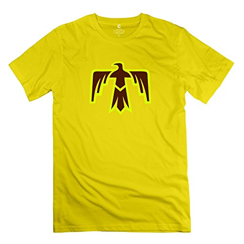 Custom Men's T Shirts Cool Thunderbird Thunder Bird Native American Indians Size L Yellow