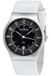 Skagen Men's 233XXLSLW Stainless Steel Black Dial Watch
