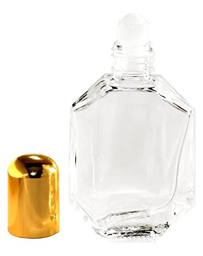 Riverrun Roll-on Perfume Bottle Faceted Glass Essential Oil Aromatherapy Roller Ball 1/2 oz 15ml (Set of 10) - Faceted Bottle