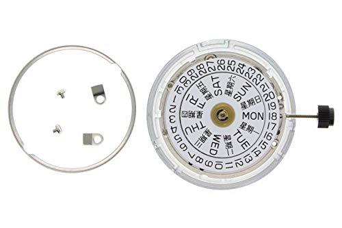 New Genuine ETA 2836-2 Watch Movement 25 Jewel Automatic Day Date Silver Swiss