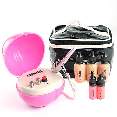 HJLWST OPHIR Professional 0.2mm Air Brush Makeup System Set with Airbrush Foundation for Cosmetic Airbrushing by HJLWST
