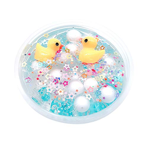 Price comparison product image Hisoul Crystal Clay Toy Duck Star Puff Mixing Cloud Slime Putty Scented Stress Squeeze Clay Toy - Wonderful Slime Toy for Both Boys and Girls (A)