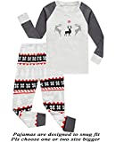 Girls Pajamas 100% Cotton Reindeer Toddler Clothes Kids Christmas Pjs Children Sleepwear