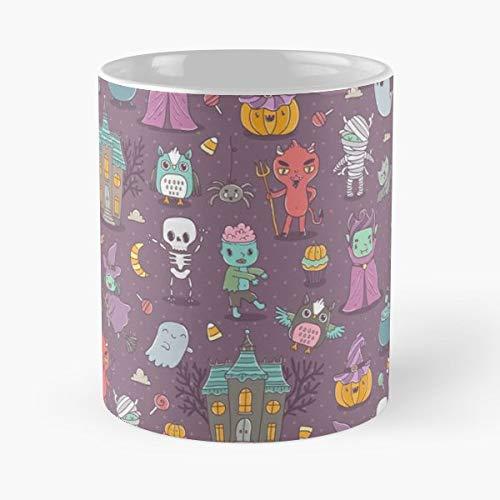 Cupcake Wrapping Devil - Coffee Mugs Ceramic