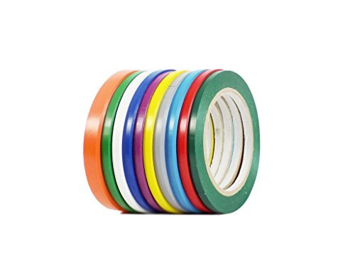 """Vinyl Marking Tape 1/4"""" x 36 yards several sizes and colors to choose from, Rainbow"""