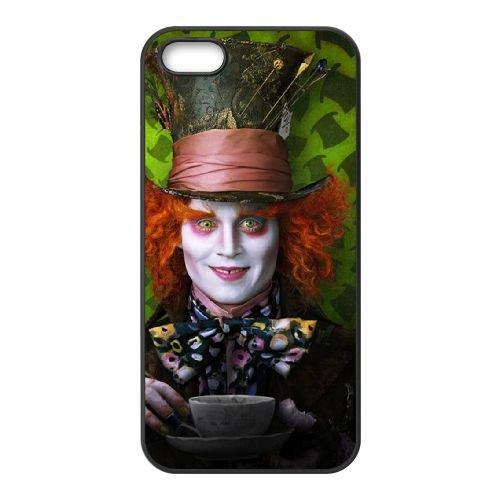 Alice In Wonderland 012 coque iPhone 5 5S cellulaire cas coque de téléphone cas téléphone cellulaire noir couvercle EOKXLLNCD21527