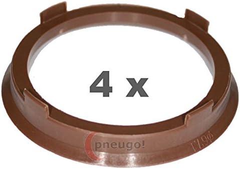 4 X Zentrierringe Kunststoff 67 1mm Auf 57 1mm Braun Auto