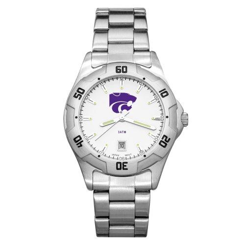 NCAA Kansas State Wildcats Men's All-Pro Chrome Watch by Logo Art