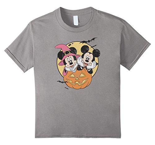Disney Halloween Shirt (Kids Disney Mickey and Minnie Halloween T Shirt 8 Slate)