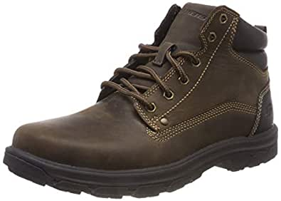 Skechers Men's Segment- Garnet Hiking Boot, Chocolate, 9.5 Medium US