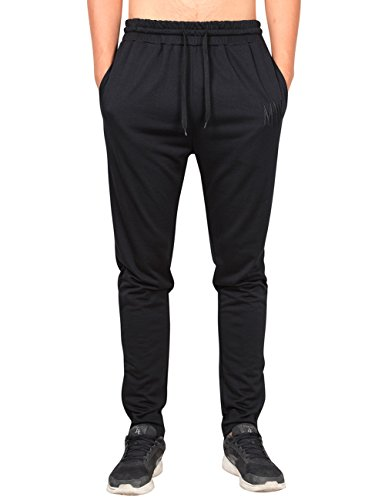 MrWonder Men's Casual ZIP Joggers Pants Jersey Fitness Running Trousers Slim Fit...