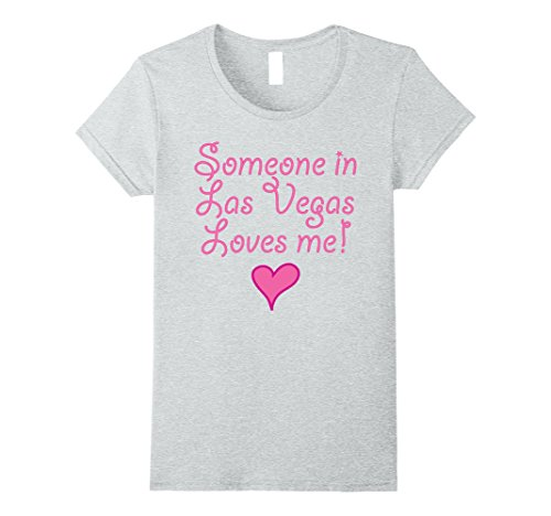 Womens Someone in Las Vegas Loves Me! Tshirt | Cute Gift Nevada NV Medium Heather - Kids In Vegas For Las Show
