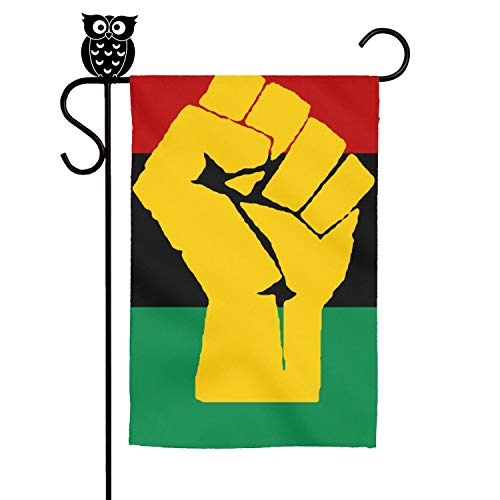 KJIERNMS Black History Month Black Liberation Flag Durable Garden Flag for All Seasons & Holidays Premium Quality 12 x 18 Inch Seasonal Garden Flags Set for Outdoors Decorative Flags
