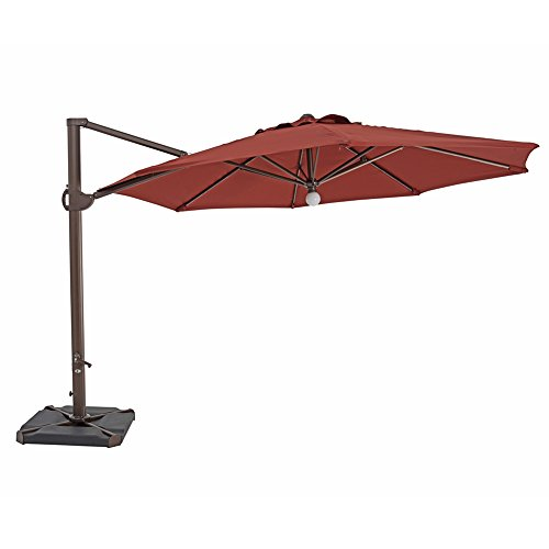Cantilever Hanging Umbrella Sun Shade | Henna | Ø11,5' ft...
