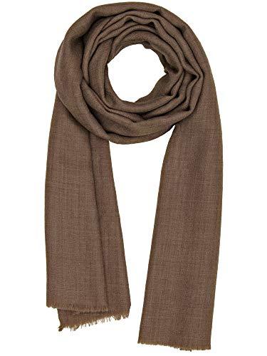 Cashmere Feel Wool Silk Blend Scarf Unisex Pashmina Men's Women's Shawl Nutmeg