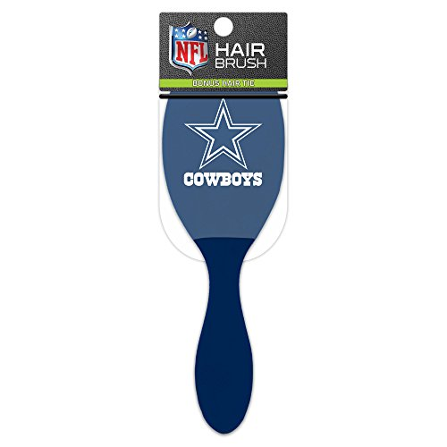 Worthy Promotional NFL Dallas Cowboys Salon Style Hair Brush with Ball Tipped Bristles and Bonus Hair - Apparel Mens Promotional