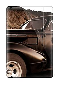 Hot Girl And Vintage Car Sepia Old Looking Photo Car First Grade Tpu Phone Case For Ipad Mini/mini 2 Case Cover