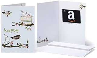 Amazon.com $20 Gift Card in a Greeting Card (Birthday Birds Design) (BT00CTP442) | Amazon price tracker / tracking, Amazon price history charts, Amazon price watches, Amazon price drop alerts